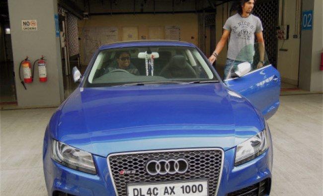 Pragyan Ojha and Ishant Sharma at Buddh International Circuit in Greater Noida ...