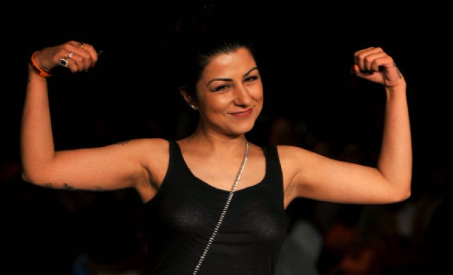 British Indian rapper and hip hop singer Hard Kaur attends the fifth day of the Lakme Fashion Week..