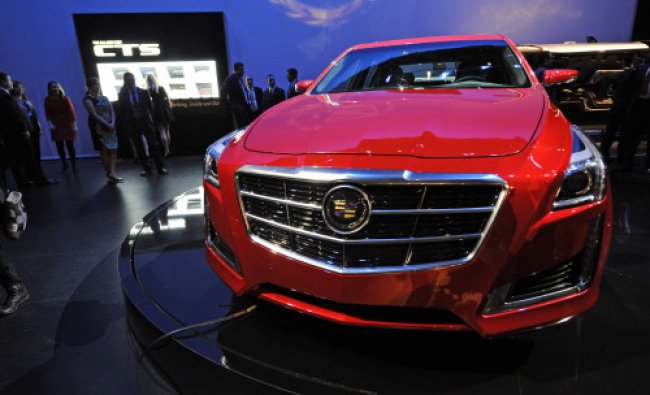 The new 2014 Cadillac CTS is introduced, Tuesday, March 26, 2013 in New York. AP Photo