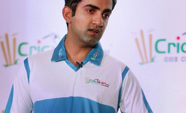 Gautam Gambhir at the launch of a cricket portal introducing National School League in New Delhi...