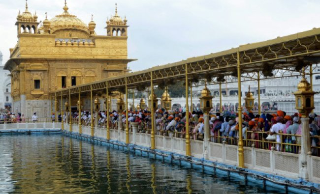 Devotees gather to pay their respects, on the occasion of \'Hola Mohalla\'...