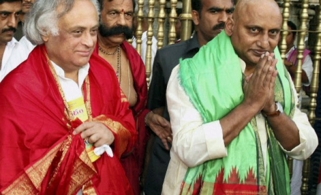 Union Rural Development Minister Jairam Ramesh and Andhra Pradesh Chief Minister N. Kirankumar...