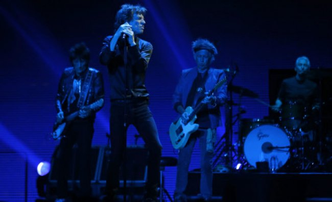 British rock band The Rolling Stones perform during their \'50 & Counting\' tour in Anaheim.