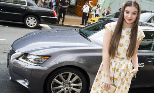 Hailee Steinfeld arrives in a Lexus at the 2013 CFDA Fashion Awards on Monday, June 3, 2013...