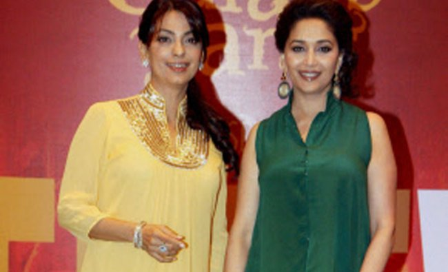 Bollywood actresses Madhuri Dixit and Juhi Chawla launch \'BELIEVE\'