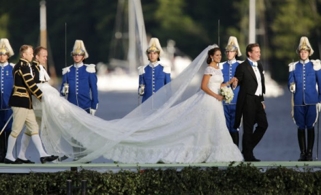 The newly wed Princess Madeleine of Sweden and Christopher ONeill arrive at Drottningholms...