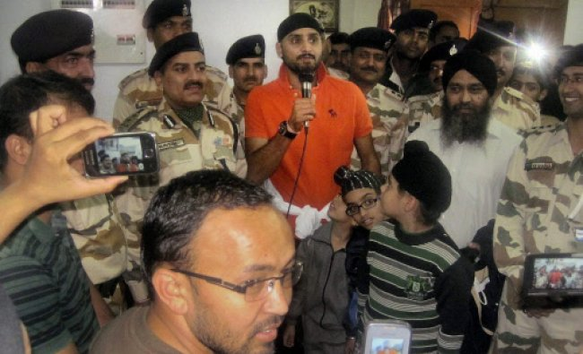 Cricketer Harbhajan Singh who was rescued by ITBP personnel on the way to Hemkund Sahib talks...