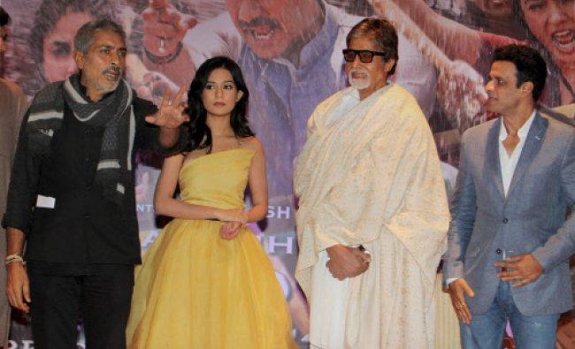 Producer Director Prakash Jha and actors Amitabh Bachchan, Manoj Bajpai and Amrita Rao...