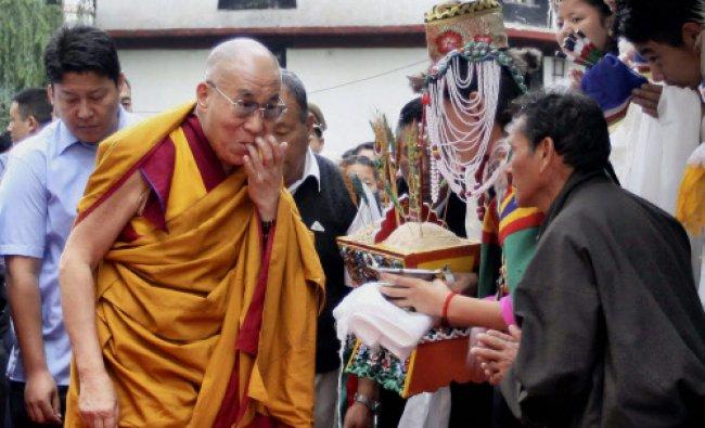 Tibetan spiritual leader Dalai Lama arrives at TCV, Upper Mcleodganj, Dharamshala to deliver...