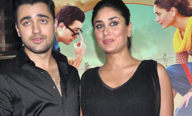 Imran Khan and Kareena Kapoor at the launch of the first look of their upcoming movie