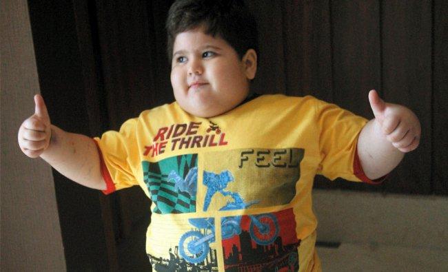 Four years and ten months old boy Rishi Khatau, weighing 44.5 Kgs, suffering from Sleep Apnea ...