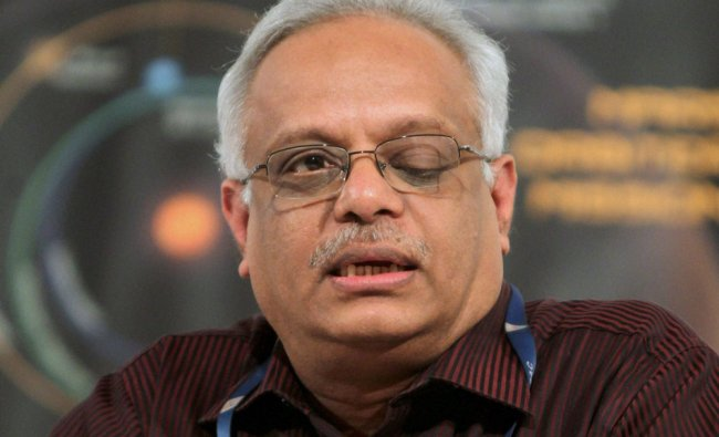 Project Director of MARS Orbit Mission Subbaiah Arunan speaks during a press conference ...