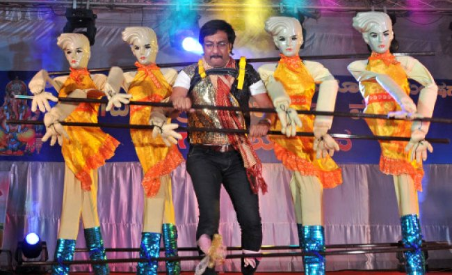 Sizzlers Troop Satya Performing doll dance during the Ganapathi Pooja cultural Programme organized..