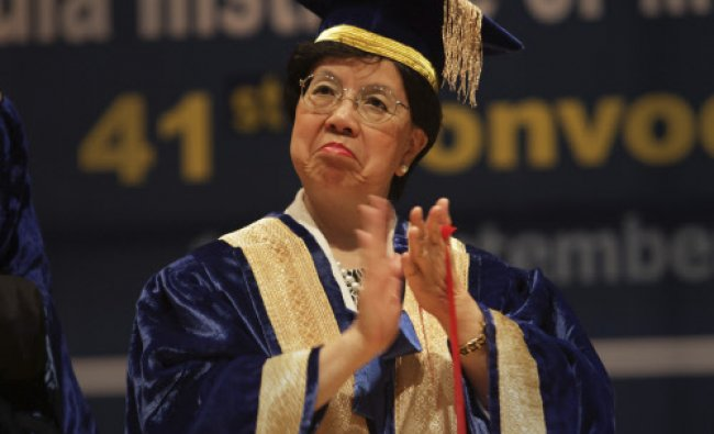World Health Organization, WHO, Director General Margaret Chan, applauds prize winning students...