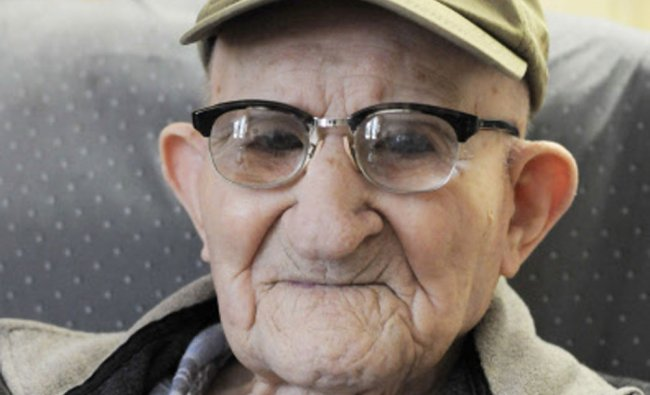 Salustiano \'Shorty\' Sanchez, 112, the world\'s oldest man according to Guinness World Records...
