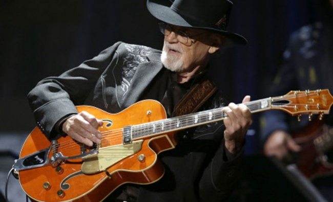 Duane Eddy performs during the Americana Honors and Awards show on Wednesday, Sept. 18, 2013, in...