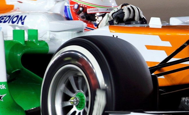 Force India Formula One driver Paul di Resta of Britain drives during the qualifying session of...
