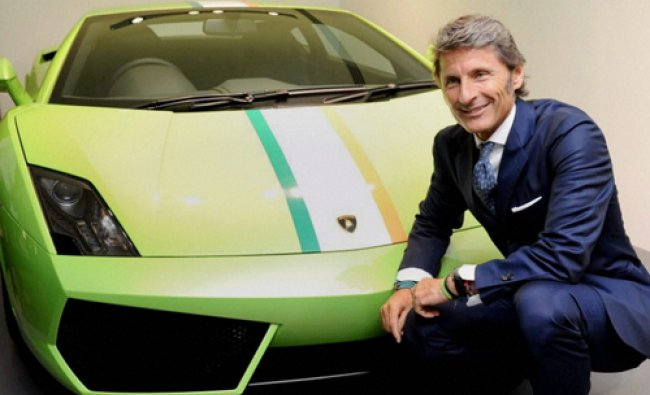 Stephan Winkelmann, President and CEO of Automobili Lamborghini at the inauguration of their new...