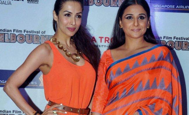 Malaika Arora Khan, Vidya Balan Kapur during announcement of The Indian Film Festival of...