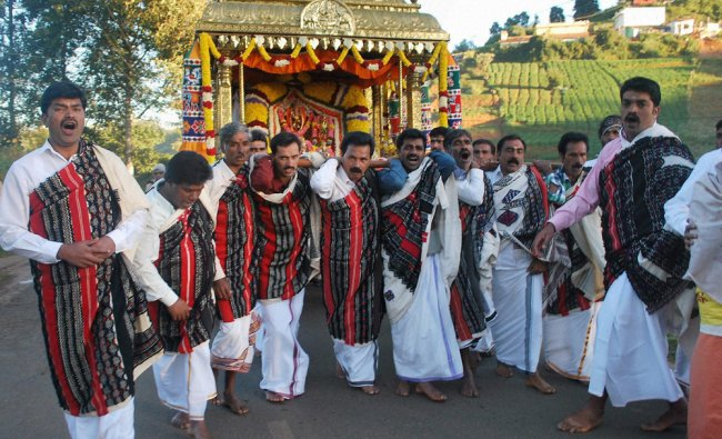 Todas celebrating a tribal festival in Ooty on Wednesday...