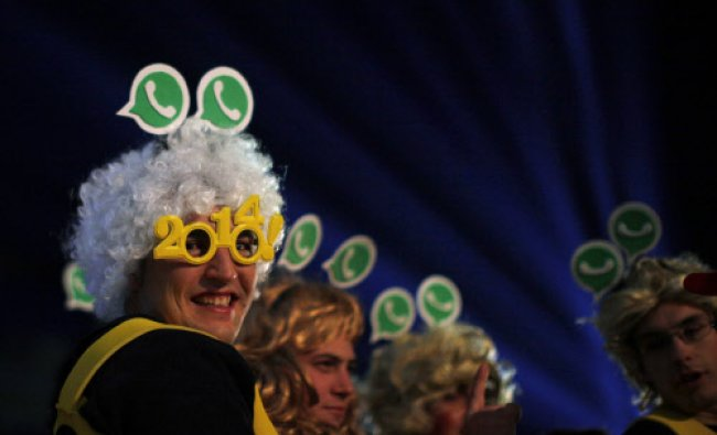 Revellers take part in New Year\'s celebrations in Coin, near the southern Spanish town of Malaga...