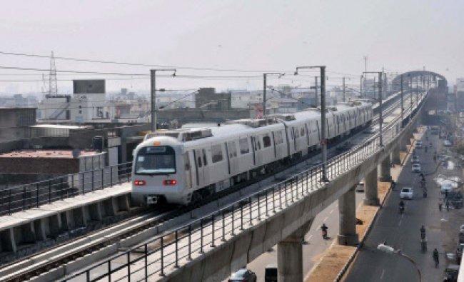 A metro train during a trial run...