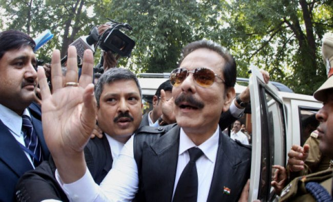 Chairman of Sahara India Pariwar Subrata Roy, arrives to appear before the Supreme Court ...