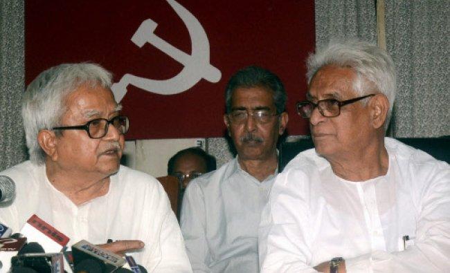 Left Front Chairman & CPIM West Bengal state secretary & Poltbearu member Biman Basu...