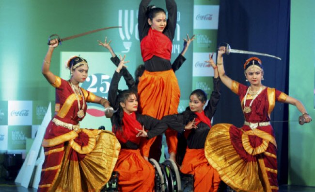 Artists perform during Limca Book of Records\' People of the Year 2014 award function...