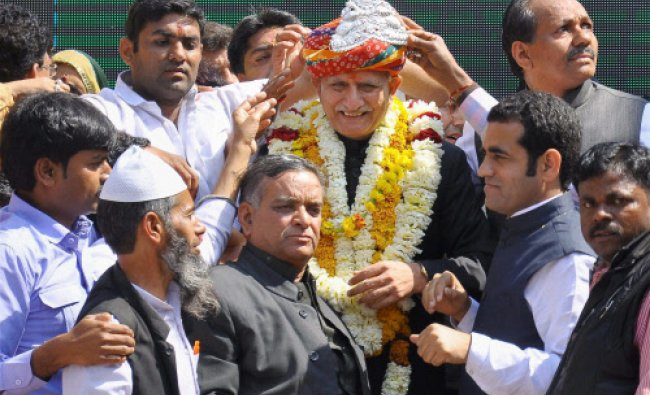 Newly appointed Rajasthan BJP president Ashok Parnami assuming charge amid the party workers...