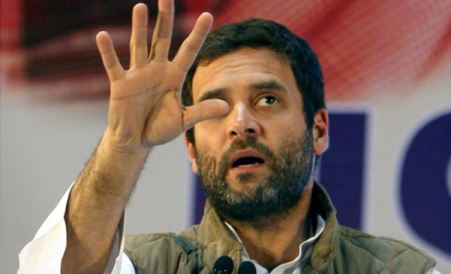 Congress Vice President Rahul Gandhi speaks during the NSUI National Convention...