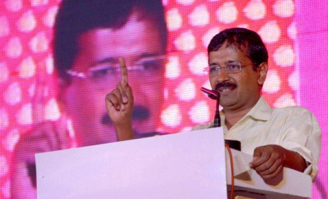 AAP leader Arvind Kejriwal addresses a programme in Jaipur on Friday...