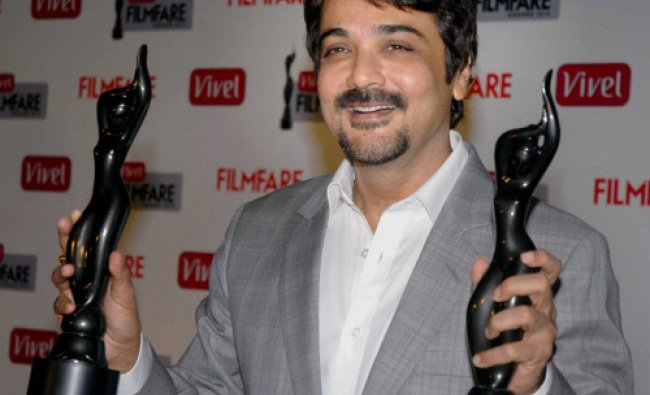 Actor Prasenjit Chatterjee at the unveiling of the 1st Filmfare Awards 2013 for the eastern .......