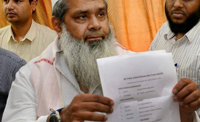 Chief of All India United Democratic Front showing the candidates\' list ...