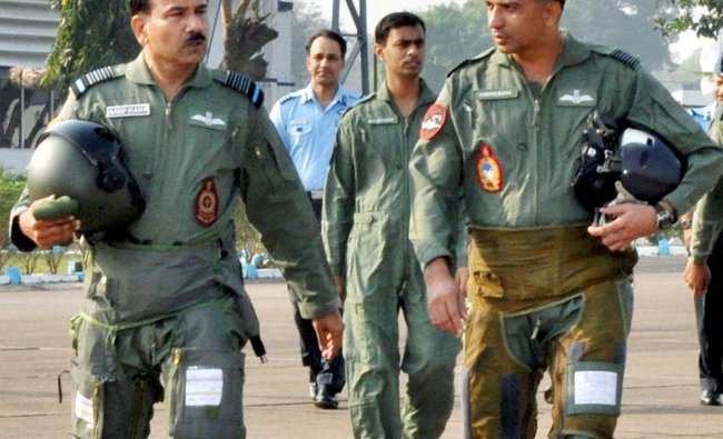 Chief of the Air Staff, Air Chief Marshal Arup Raha proceeding for a sortie in MiG 27 aircraft ...