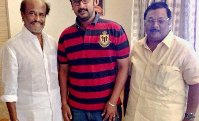 Superstar Rajinikanth with Former Union Minister MK Azhagiri and son Dayanidhi Azhagiri in Chennai .