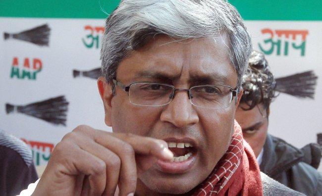 AAP leader Ashutosh talking to media in New Delhi on Friday...