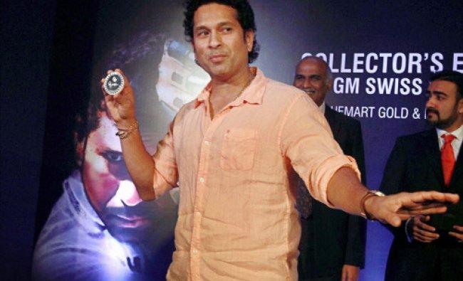 Cricket Legend Sachin Tendulkar during the launch of \'limited edition\' silver coin in Mumbai...