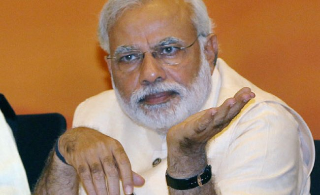 BJP Prime Ministerial candidate Narendra Modi during party\'s Central Election Committee...