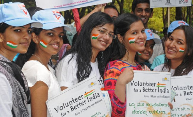 Volunteers, Youths and working professionals are creating awareness to vote for coming Lok Sabha...