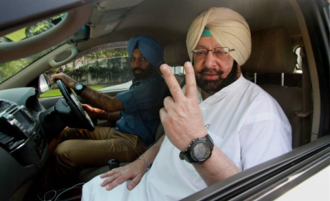 Congress Candidate from Amritsar Capt. Amrinder Singh in Chandigarh on Saturday...