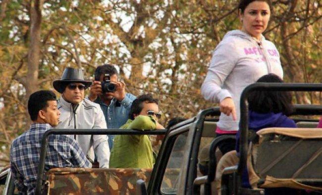 Legendary cricketer Sachin Tendulkar visited Gujarat\'s Gir forest, the abode of Asiatic lions...