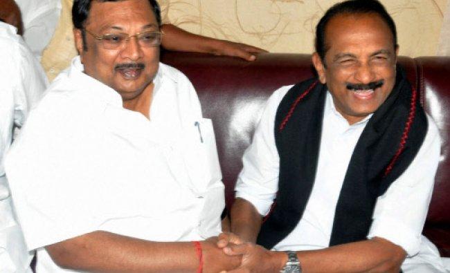 MDMK chief Vailko meets suspended DMK Leader MK Alagiri in Madurai...