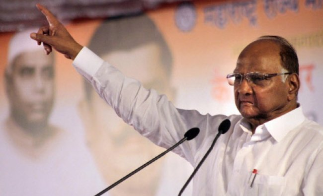 Sharad Pawar President of the Nationalist Congress Party during the 32nd death...