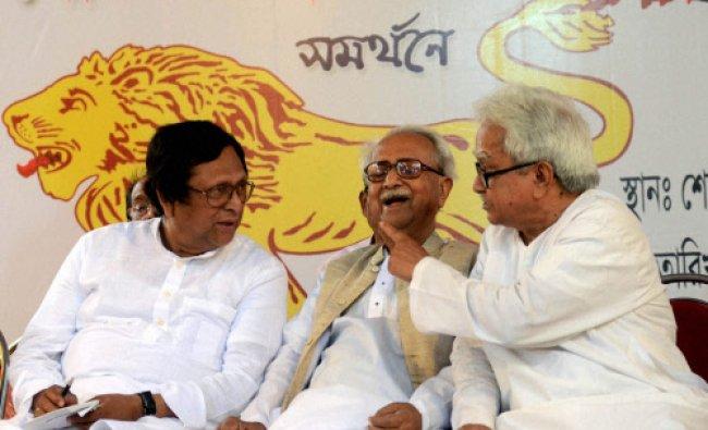Left Front Chairman Biman Bose, Forward Bloc State Secretary Ashok Ghosh...
