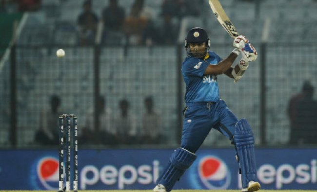 Sri Lanka\'s Mahela Jayawardene plays a shot during their ICC Twenty20 ...