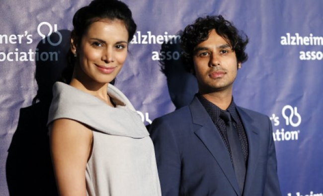 Actor Kunal Nayyar and model Neha Kapur pose at the 22nd annual \'A Night at Sardi\'s\' to benefit ...