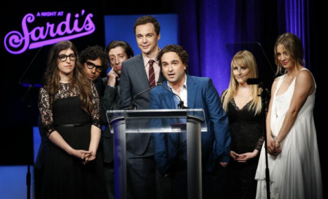 Cast of \'The Big Bang Theory\' accepts Abe Burrows Entertainment Award during the annual \'A Night ...