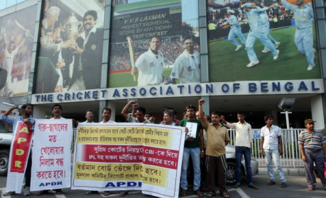 APDR (Association for Protection of Democratic Rights) activists shouting slogans to protest...
