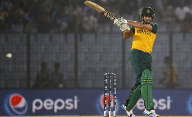 South Africa\'s Albie Morkel plays a shot during their ICC Twenty20 Cricket World Cup match ...